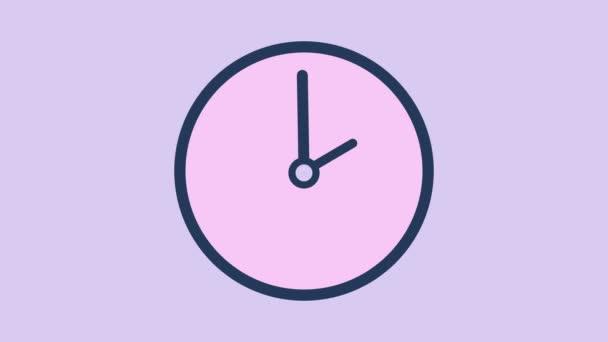 Pohyb na pozadí s rotující hodiny ve 12 hodinová smyčka