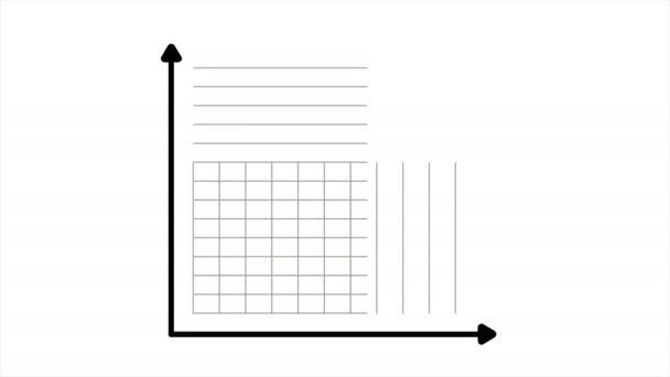 Growing chart. Financial bar diagram showing increasing profits.