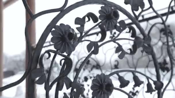 Art smeden elementen en ijzeren hek ruwe metalen krullend