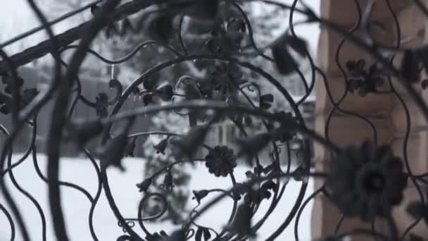 Kunst Schmieden Elemente Und Eisenzaun Grobe Lockiges Dekorative