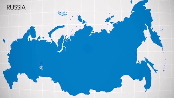 the division of Europe and Asia on the map. the city Ekaterinburg divides Europe and Asia. Eurasia on the map Animation. Eurasia. Yekaterinburg animation