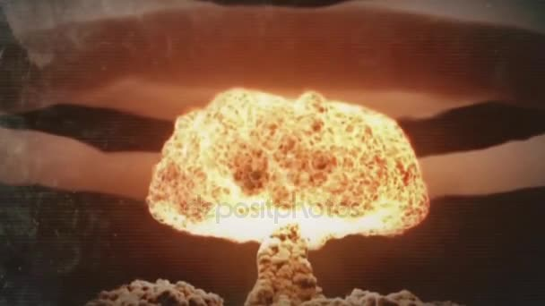 Nuclear explosion and its consequences animation. Nuclear War and its consequences animation. The explosion of a nuclear bomb in the city animation. Explosion nuclear bomb in ocean