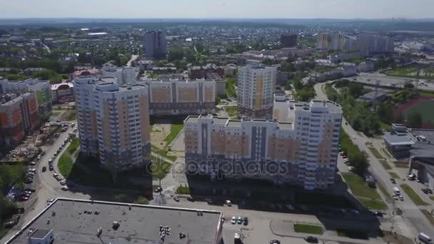 Blick Auf Die Nachbarschaft Im Stadtteil Mit Neuen Häusern Schlafen.  Wirtschaft Und Kultur Konzept
