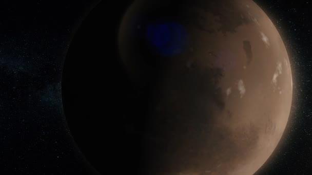 Planety ve vesmíru. Sluneční soustava a objekty v prostoru. Vědecké pozadí abstraktní - zářící planetu v prostoru, mlhovina a hvězd. Země a galaxie, na pozadí.