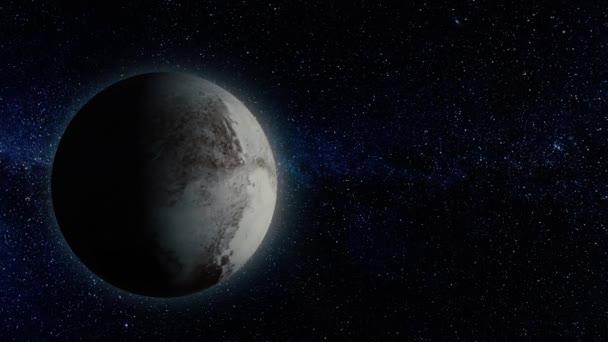 Planety nebo satelit ve vesmíru. Neprobádané planety z dalekého vesmíru. Hluboký vesmír. Vesmír scéna s planetami. Solární systém