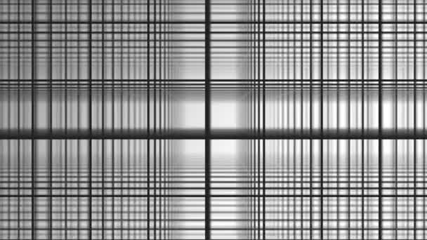 Geometrické spirála s bílými čtverečky abstraktní hnutí bílé pozadí. Černá čára mřížky náhodně převrátit s bílým pozadím. Černá a bílá složení kapel