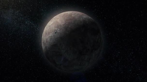 Plynového obra. Planeta ve vesmíru se sluncem flash. Mirando, miliardy galaxií ve vesmíru. Extrasolární planety na pozadí hvězd