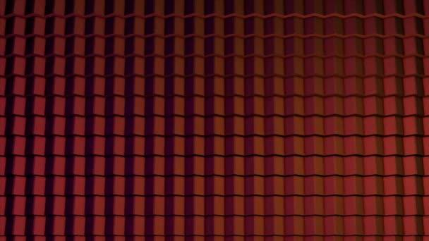 Barevné kostky bezešvé smyčka. Abstraktní kostky pozadí náhodným pohybem, 3d Loopable animace. Fialová a růžová