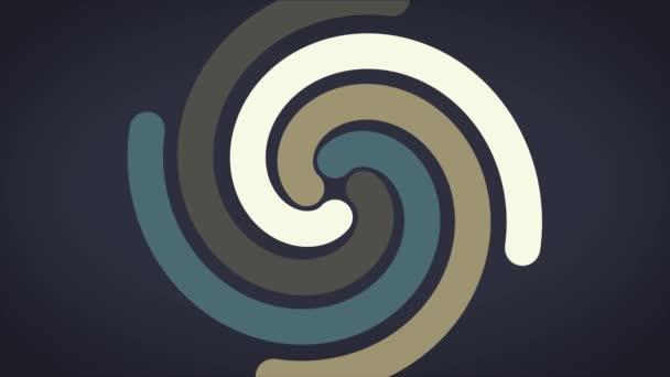 Spirale incandescente effetto astratto circolare colore sentieri, astratti. Spirale colorata con linee di tessuto a forma di un cerchio. Spirale di colore di filato