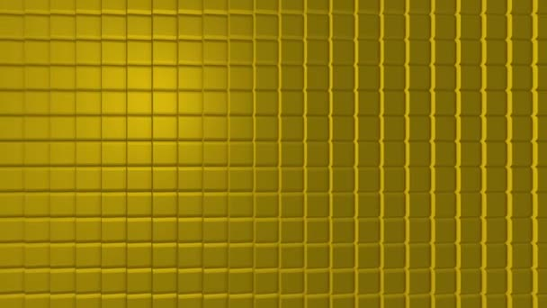 Barevné kostky bezešvé smyčka. Pohyblivé kostky. Abstraktní kostky pozadí náhodným pohybem, 3d Loopable animace. Žlutá