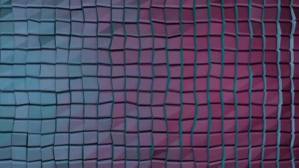 Barevné kostky bezešvé smyčka. Pohyblivé kostky. Abstraktní kostky pozadí náhodným pohybem, 3d Loopable animace. Modrá a růžová
