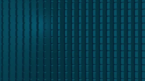 Abstract CGI motion graphics and animated background with squares. Abstract cubes are turning, 3d animation