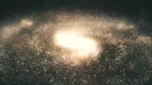 Galaxie. Krásná spirální galaxie někde ve vesmíru. Spirální galaxie