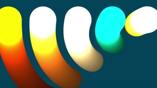 abstrakte bunte Kreise Hintergrund. 3D-Rendering-Animation Hintergrund. nahtlose Schleife. Animation farbiger Kugeln mit einer Schleife