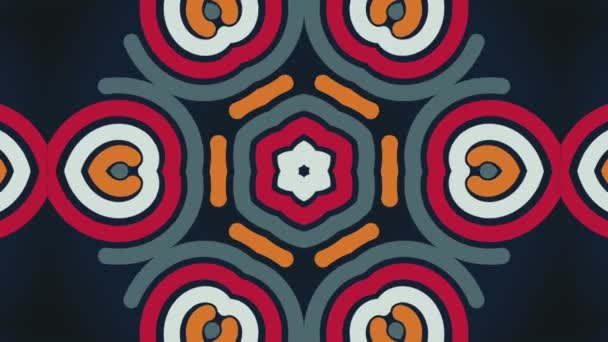 Kaleidoscopic Video Background. Colorful kaleidoscopic patterns, fractal animation. Motion design animation
