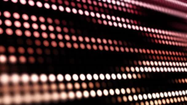 Izzó geometriai háttérrel. Animáció, mozgó színes pontok. Pontozott absztrakt mozgó blokk háttér