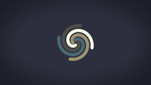Spirale incandescente effetto astratto circolare colore sentieri, astratti. Priorità bassa blu. Spirale colorata con linee di tessuto a forma di un cerchio