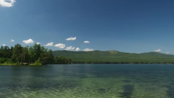 summer nature mountain forest lake landscape time lapse timelapse