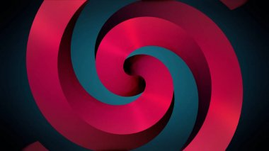 Animated black hypnotic spiral on the red background. red spiral. Black hypnotic spiral rotates on the red background. Seamless loop