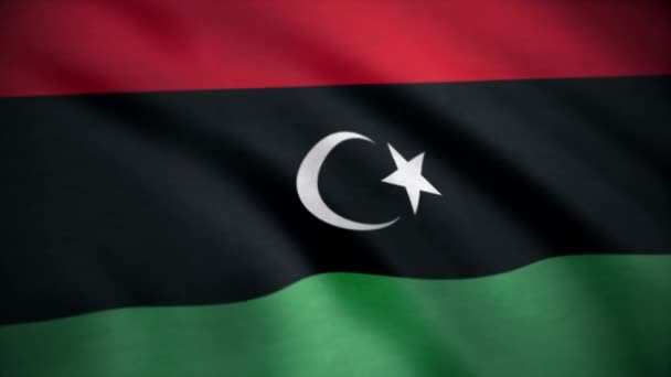 Seamless Loopable Flag of Libya. A beautiful satin finish looping flag animation of new Libya