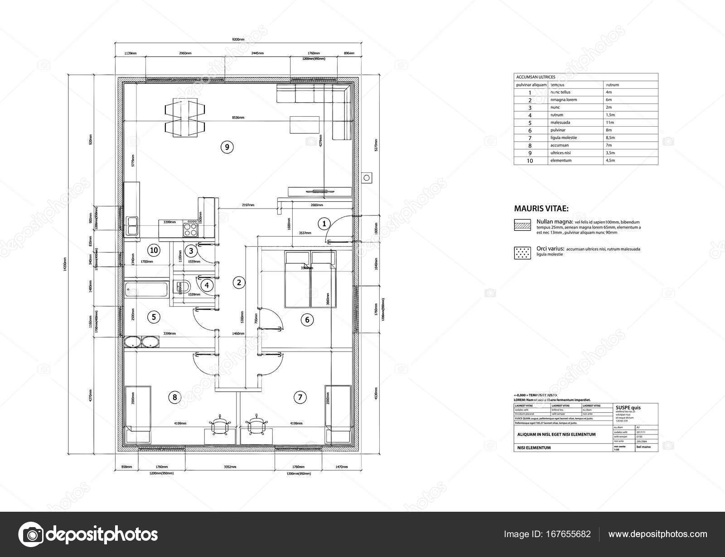 Haus Am Architekten Zeichnen Stockvektor