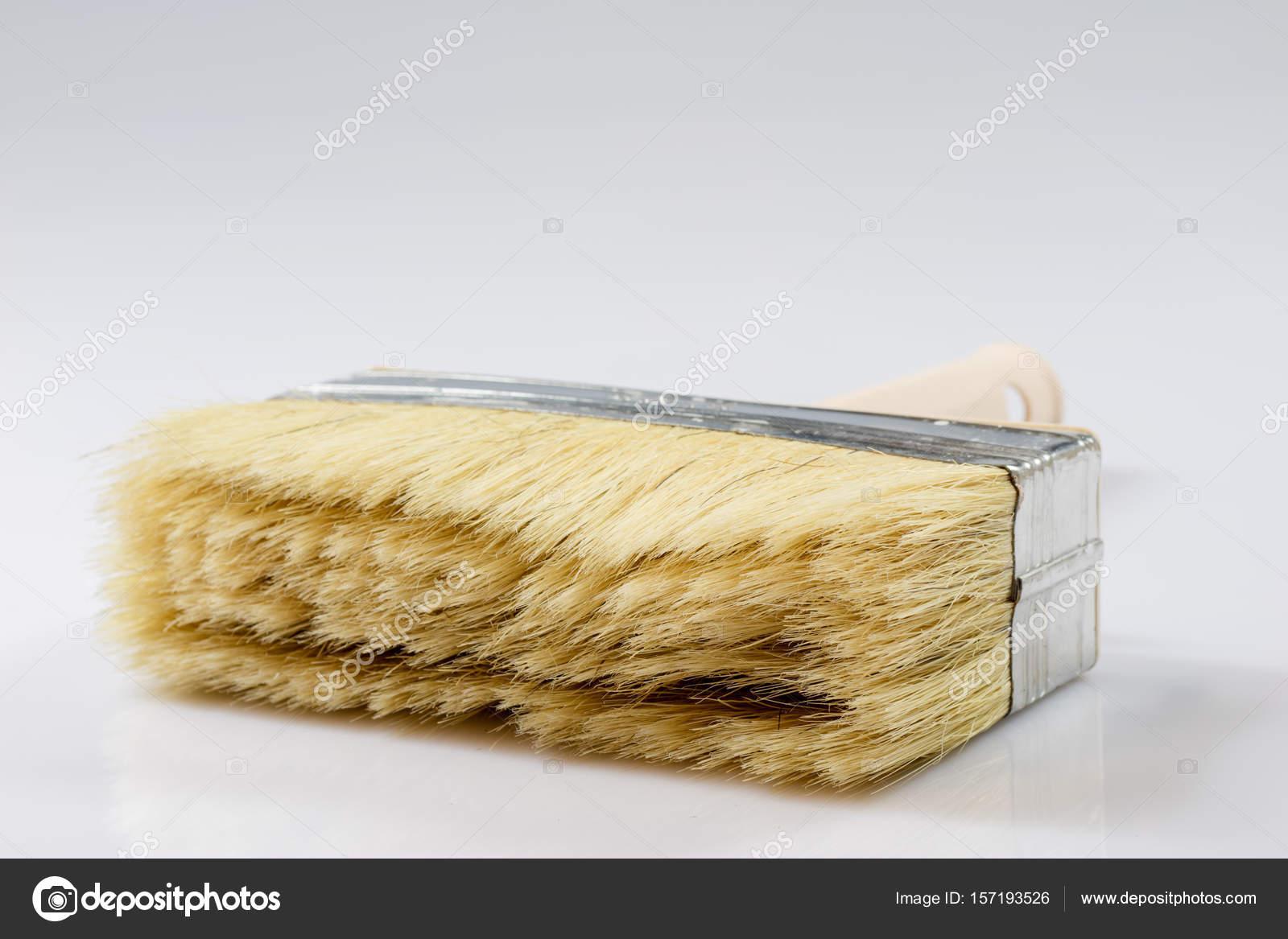 Large paint brush for painting walls, white background — Stock Photo ...