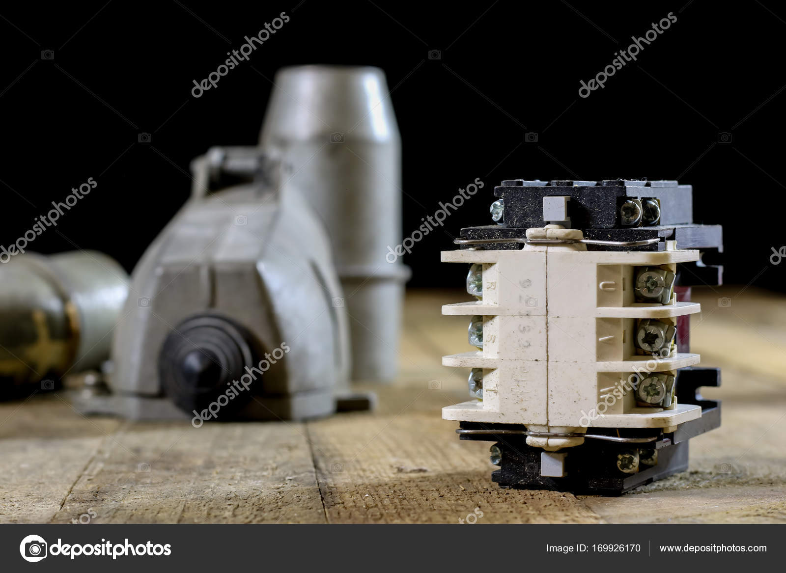 Old Plug And Socket High Voltage Electrical Accessories Wo Sockets Wiring For Electricity Royalty Free Stock Image Photo