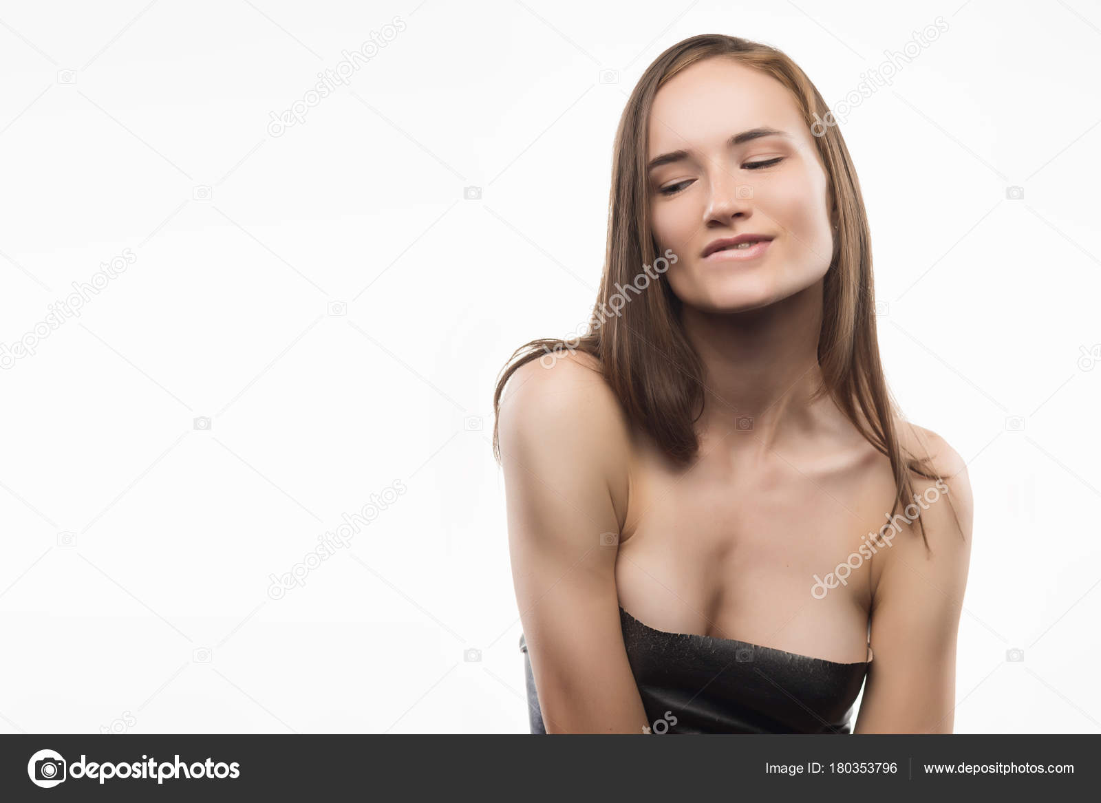 nude girls with glasses biting lower lip