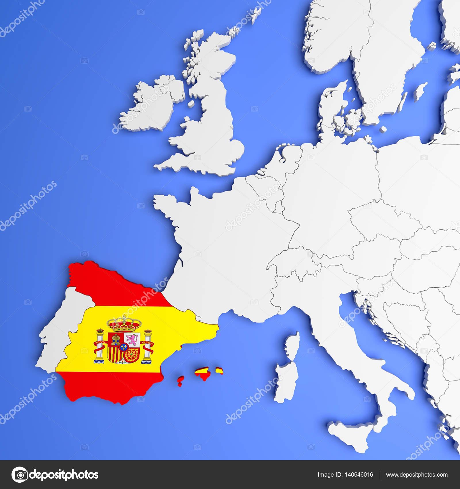 Carte Espagne Telecharger.3d Carte Espagne Photographie Malewitch C 140646016