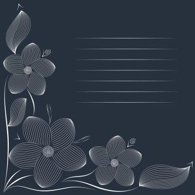 white tiara flowers greeting card  invitation