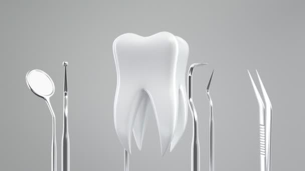Zahn und zahnärztliche Instrumente