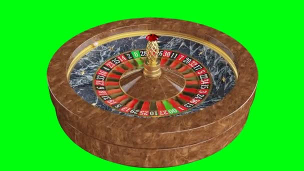 Americká ruleta kasino na zeleném pozadí