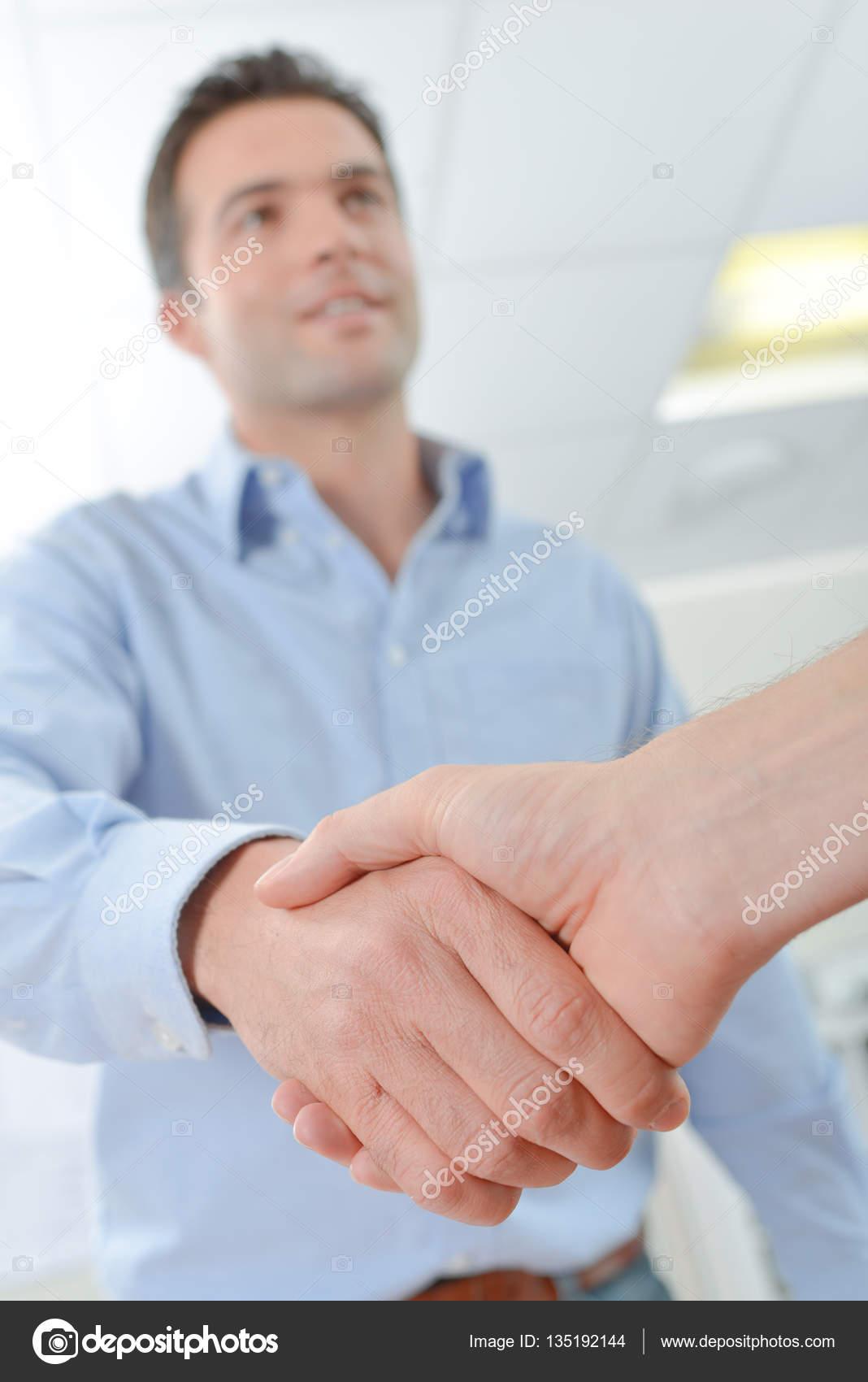 Hand Schütteln Und Bin Damit Einverstanden Stockfoto