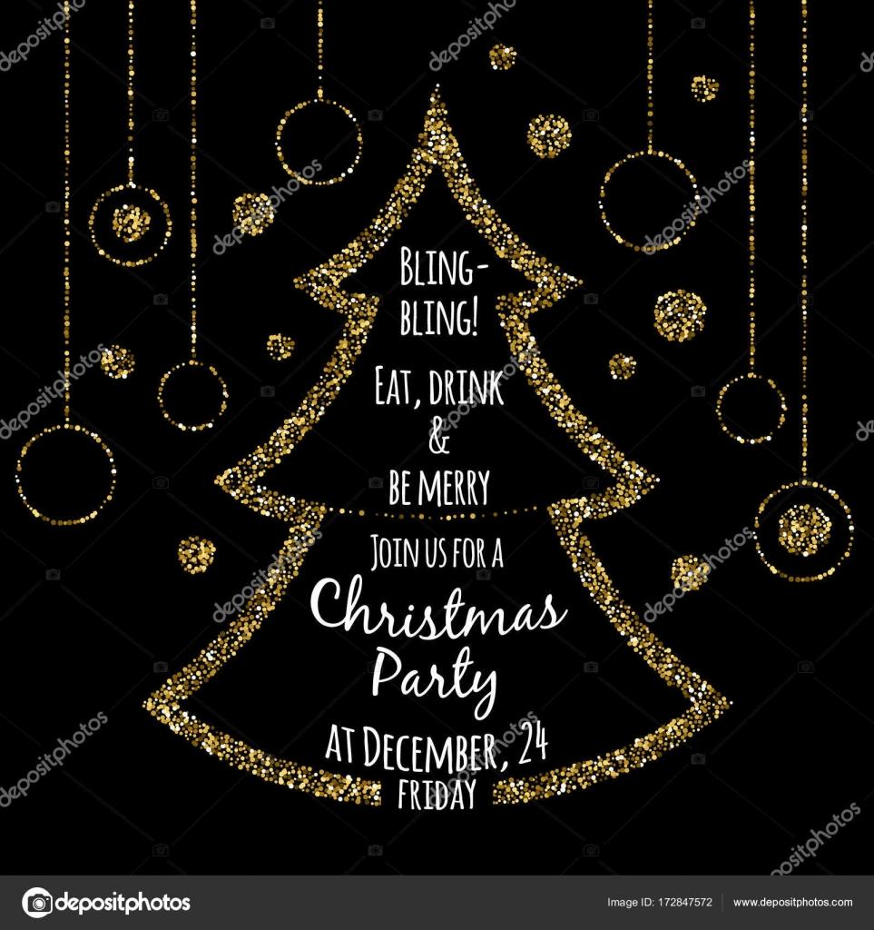 Plantilla de invitación de fiesta de Navidad — Vector de stock ...