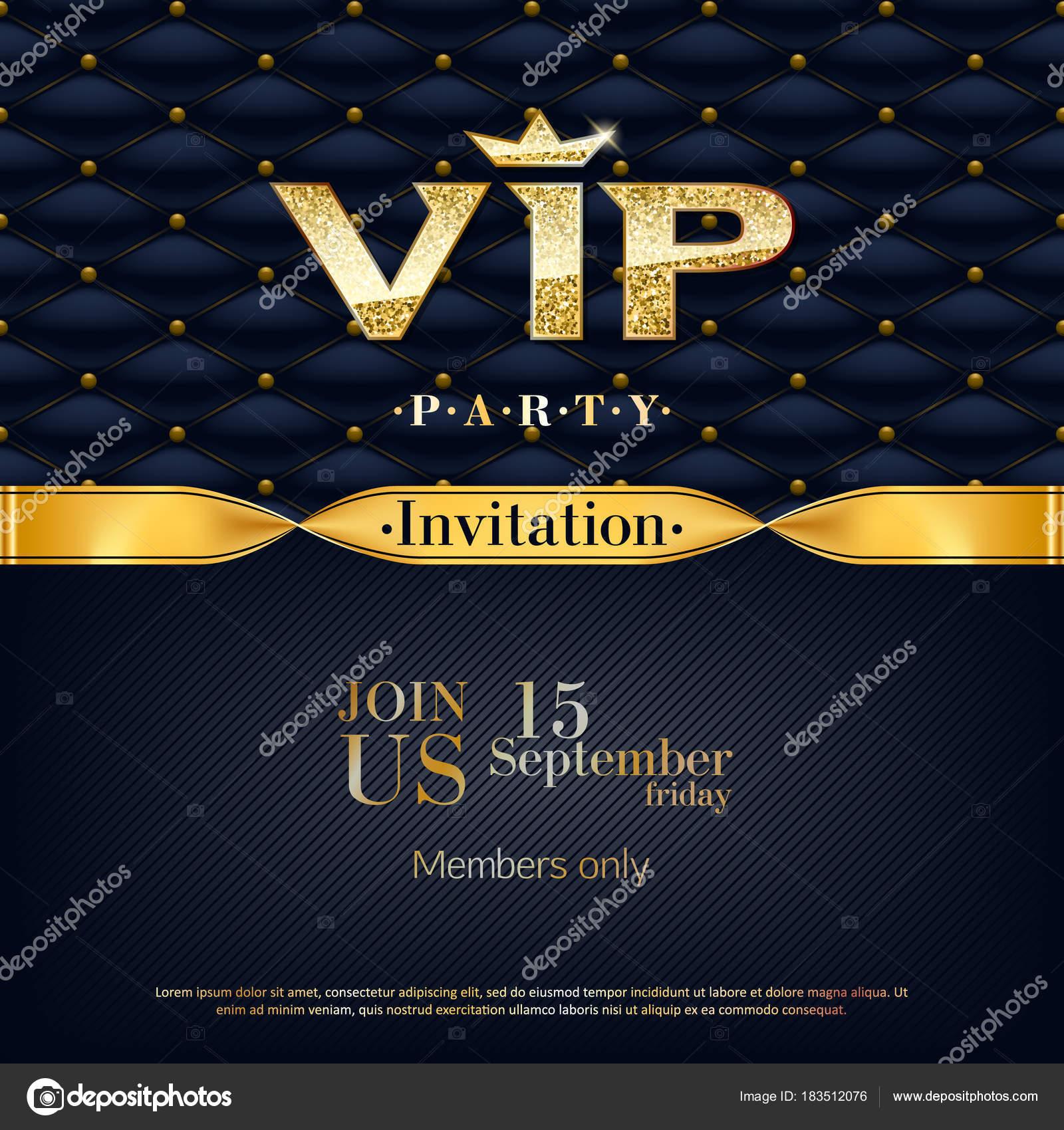 vip invitation premium design background template stock vector
