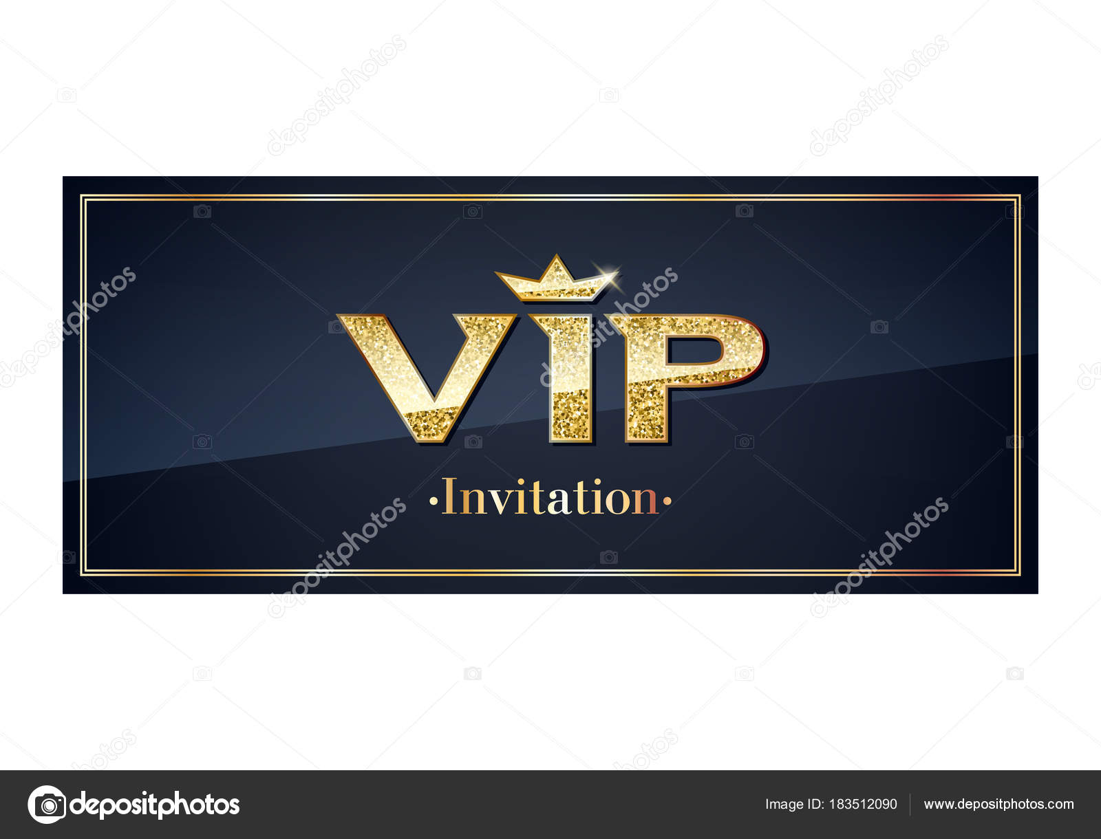 VIP Einladung Karte Premium-Design-Vorlage — Stockvektor © rea_molko ...