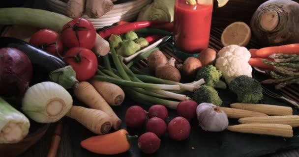 Sortiment čerstvých, zdravých, organické zeleniny