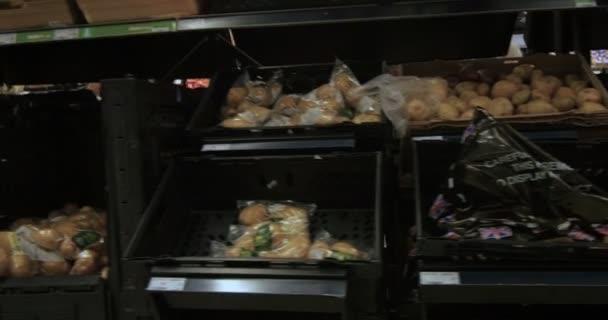 Oddělení zelenina ze supermarketu