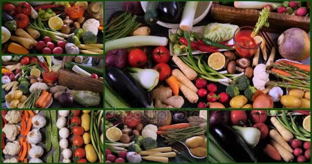 Koláž názorů čerstvých, zdravých, organické zeleniny