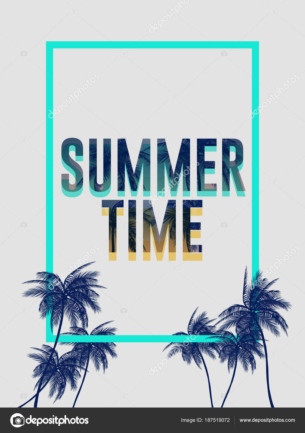 Summer california tumblr backgrounds set palms sky sunset summer summer california tumblr backgrounds set with palms sky and sunset summer placard poster flyer invitation card summertime vector by evrimdoga stopboris Images