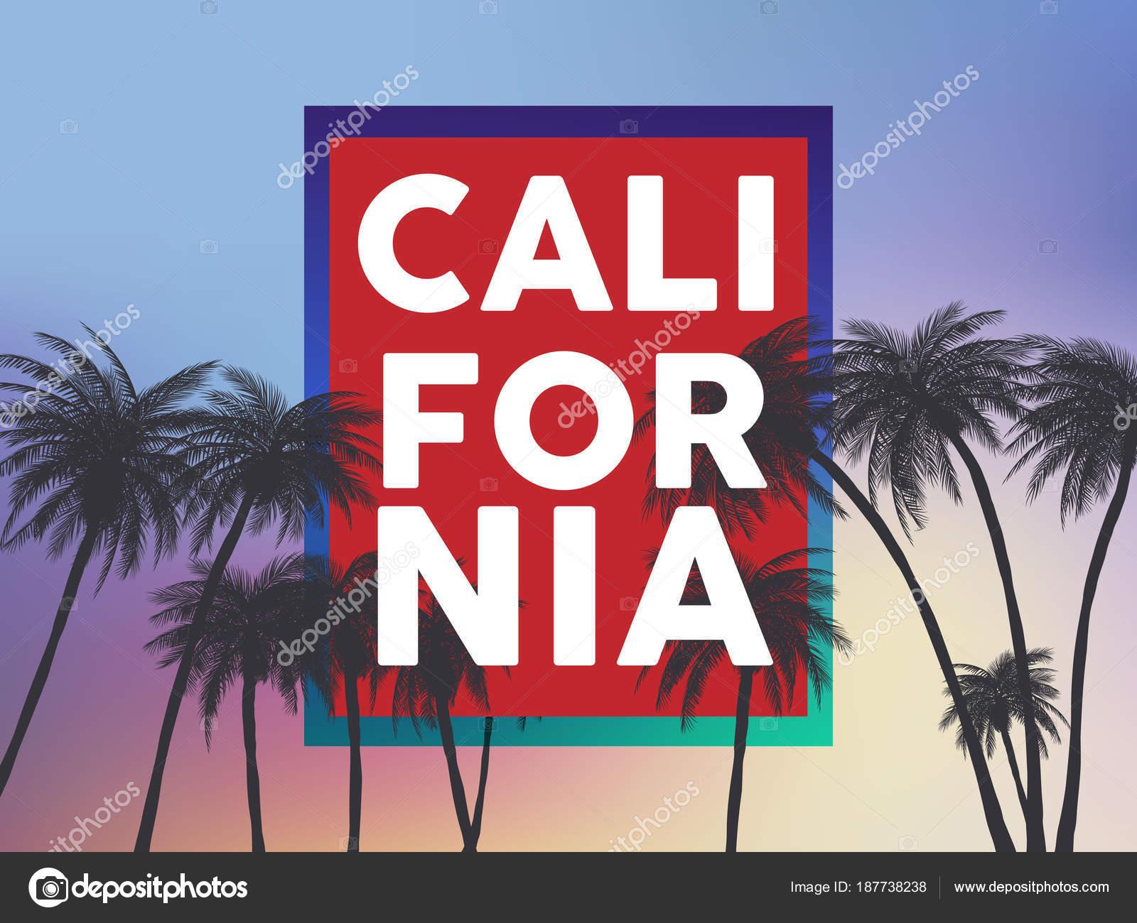 Fondos Tumblr Verano California Conjunto Con Palmeras Cielo Puesta