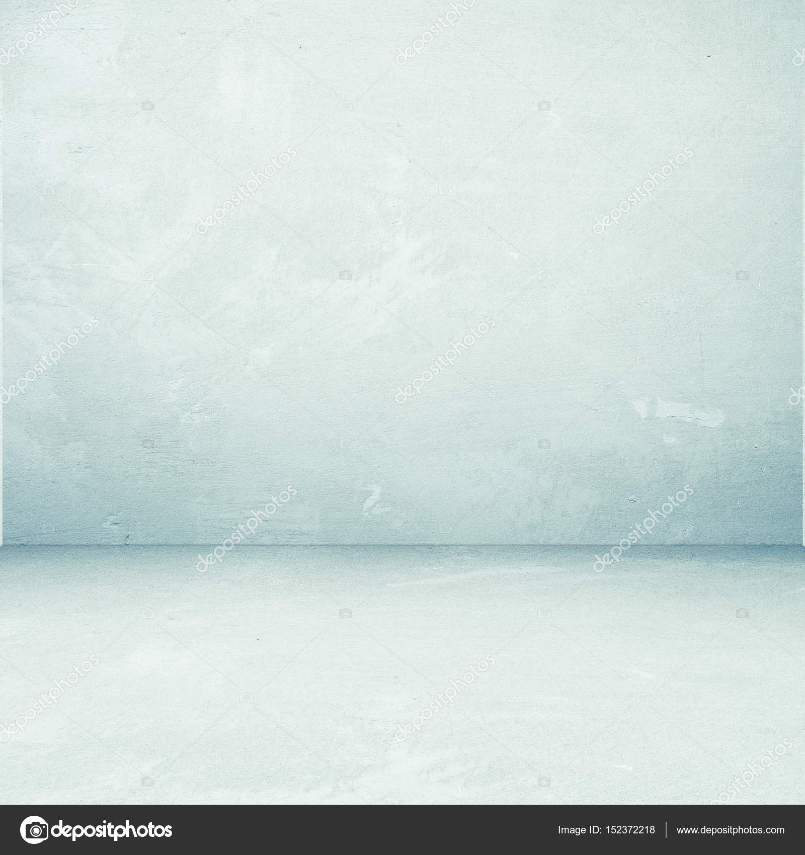 Empty perspective green cement room background, template