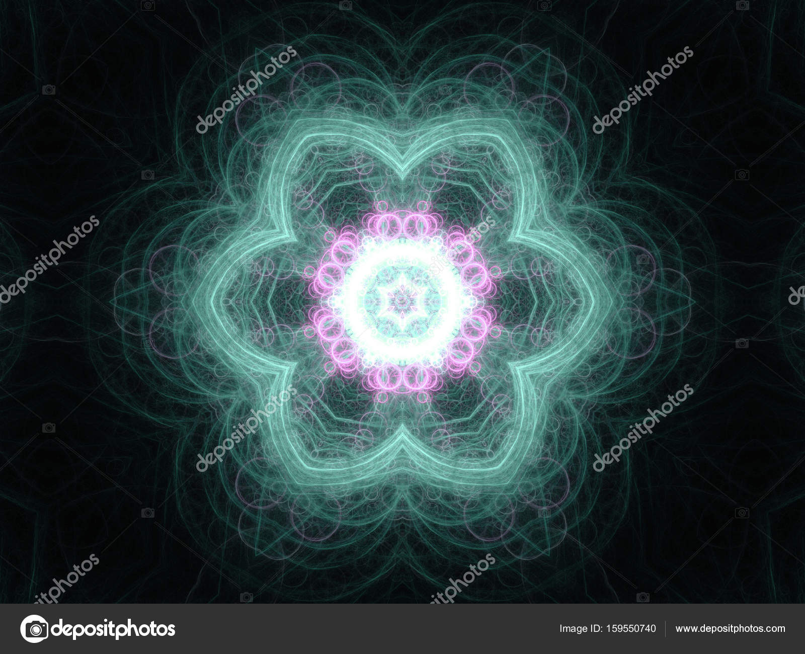 Blume geformt Fraktale Mandala, digital Artwork für kreative ...