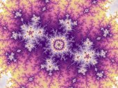 Purple swirly fractal pattern, digital artwork for creative graphic design