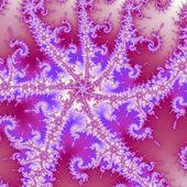 Vivid purple fractal spiral, digital artwork for creative graphic design