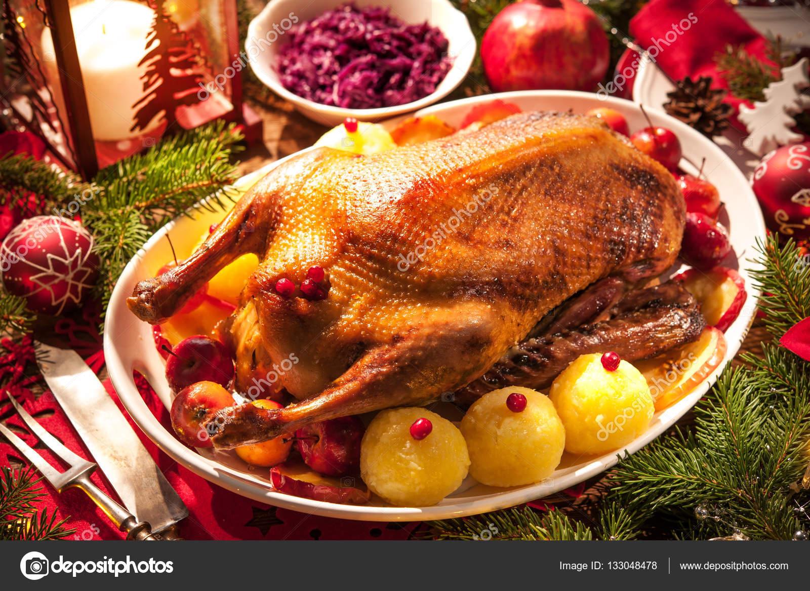 Weihnachten Ente.Weihnachten Gebratene Ente Stockfoto Alexraths 133048478