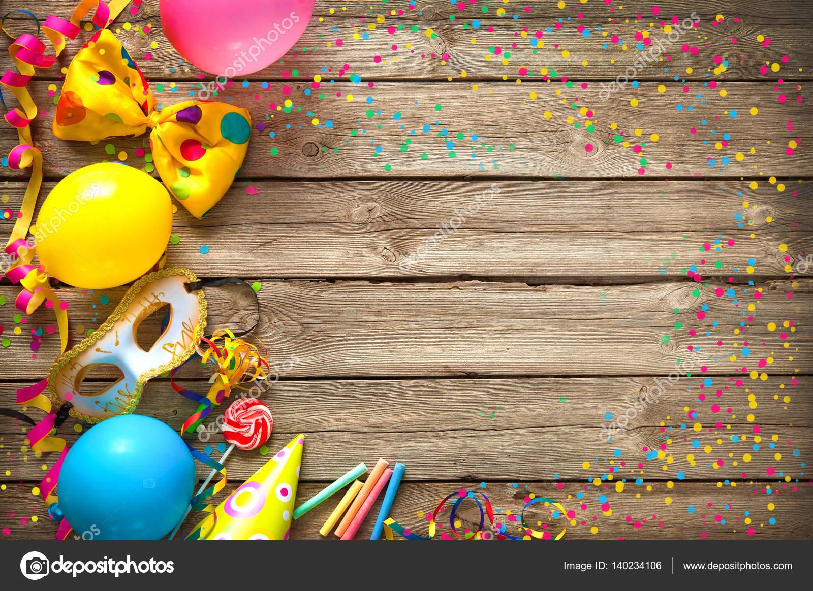Colores de fondo cumpleaños o Carnaval — Foto de stock © alexraths ...