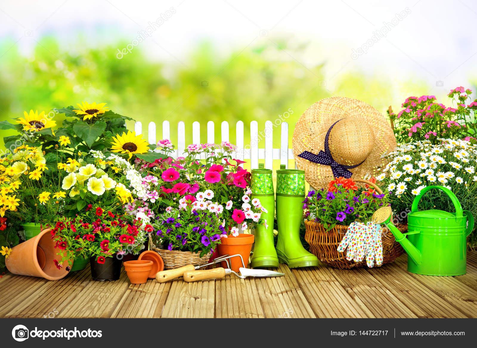 Imágenes Jardinería Herramientas De Jardinería Y Flores