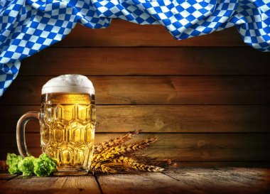 Oktoberfest beer with wheat  and hops