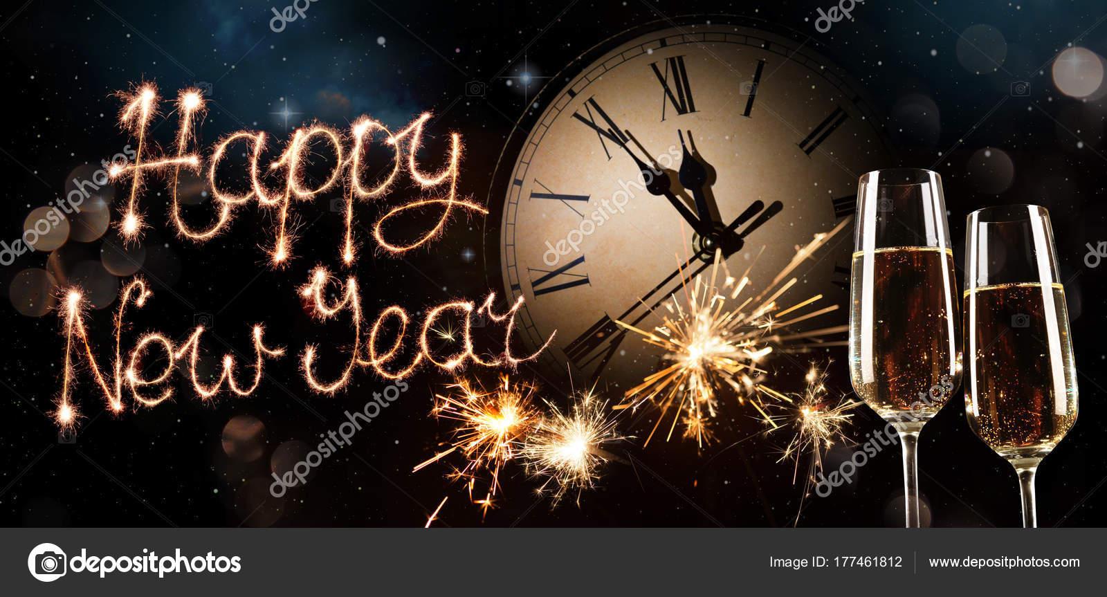 new years eve celebration background stock photo